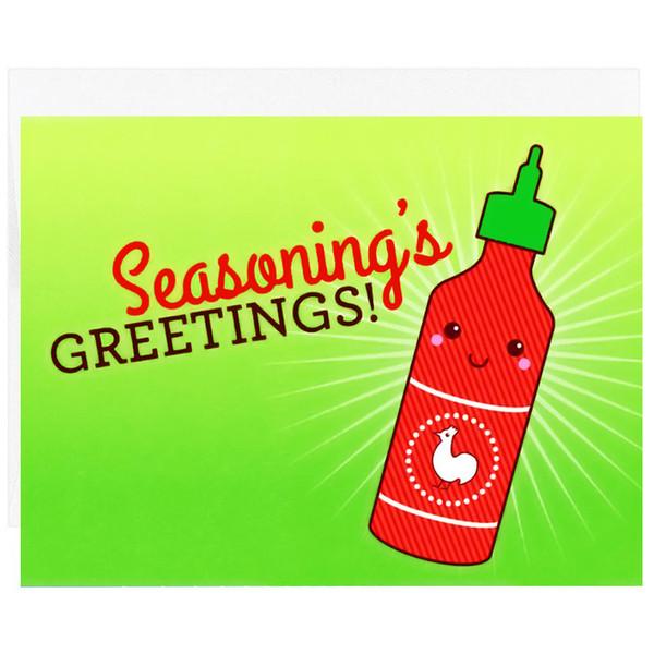 Seasoning's Greetings Sriracha Holiday Card