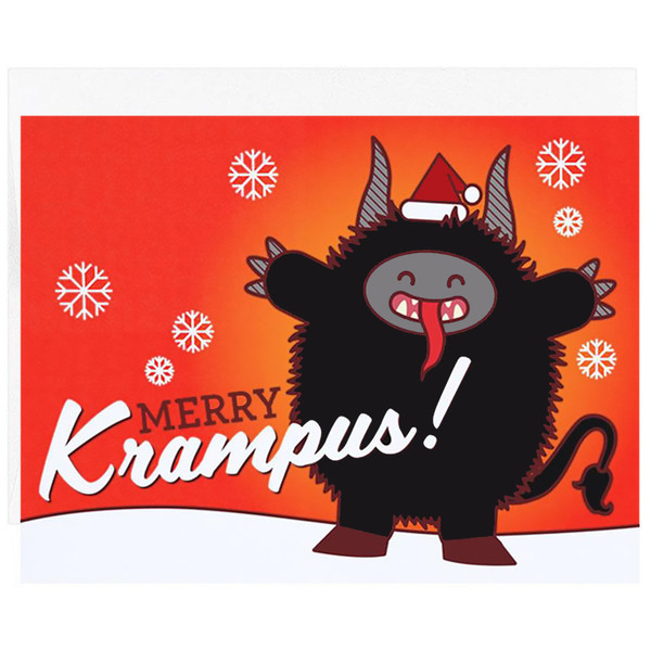Merry Krampus Christmas Card