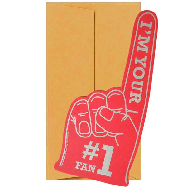 """#1 Fan """"Foam"""" Finger Greeting Card"""