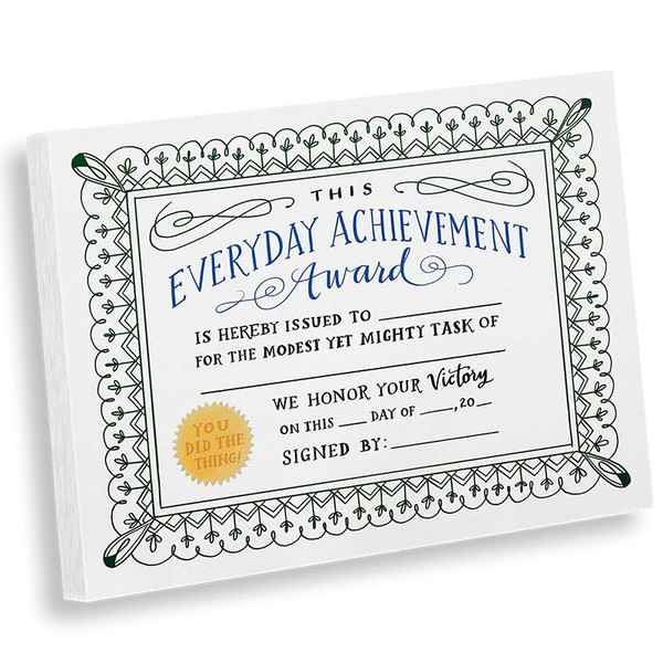 Everyday Achievement Award Notepad