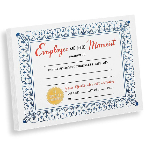 Employee Of The Moment Notepad