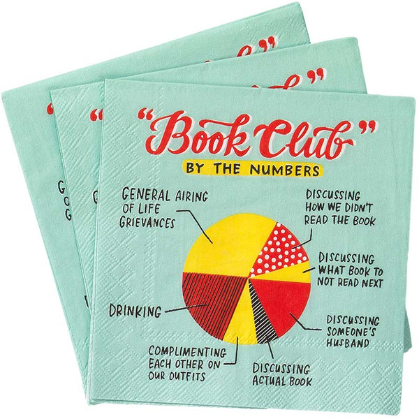 Book Club By The Numbers Cocktail Napkins