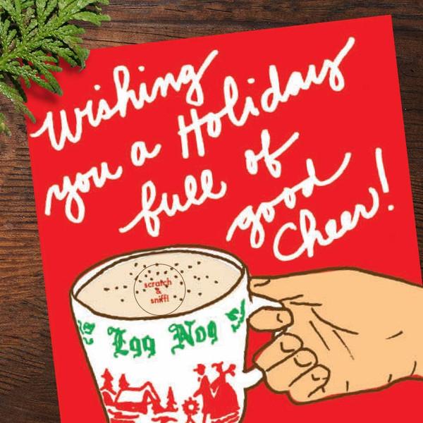 Scratch & Sniff Eggnog Christmas Card