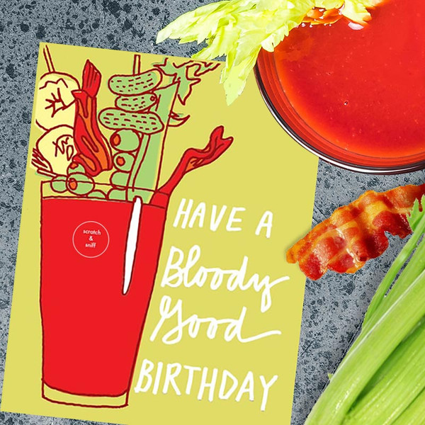 Scratch & Sniff Bloody Mary Birthday Card