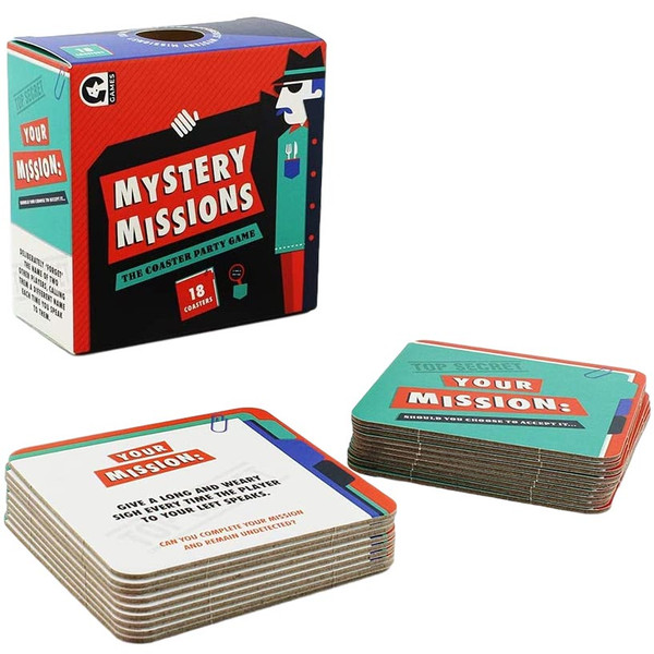 Mystery Missions Dinner Party Coasters