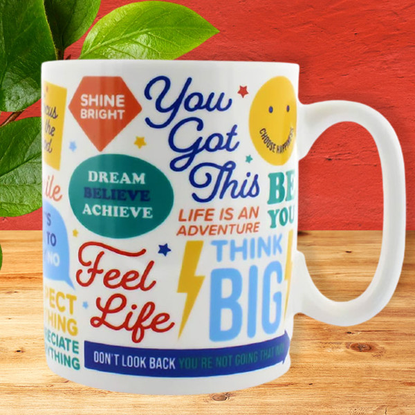Positive Affirmations Mug by Ginger Fox