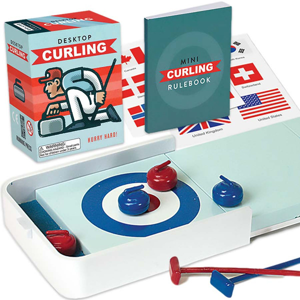 Desktop Curling Running Press Toy
