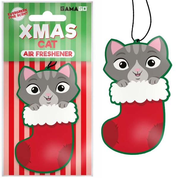 Christmas Kitty Car Air Freshener