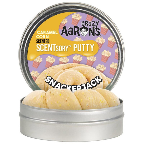 Genuine Crazy Aaron's salted caramel popcorn scented Thinking Putty