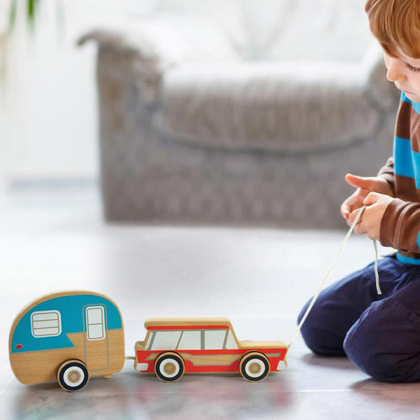 Kids Wooden Retro Pull Toy from Fred