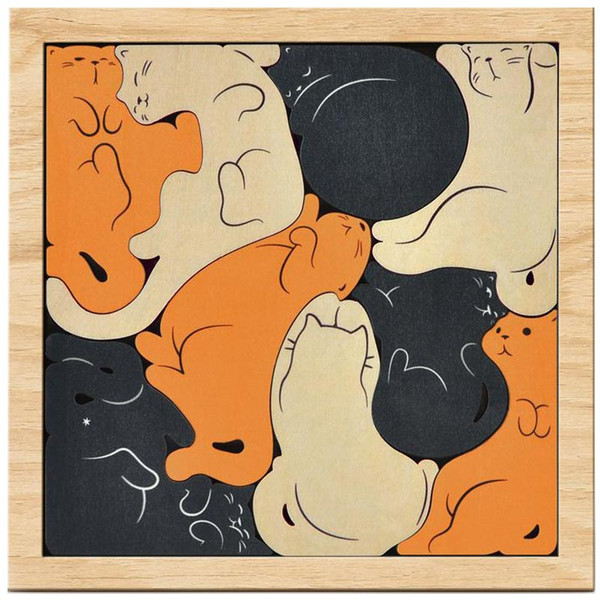 Kitty Corner Wooden Puzzle