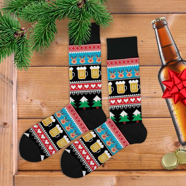 Christmas Beer Women's Socks