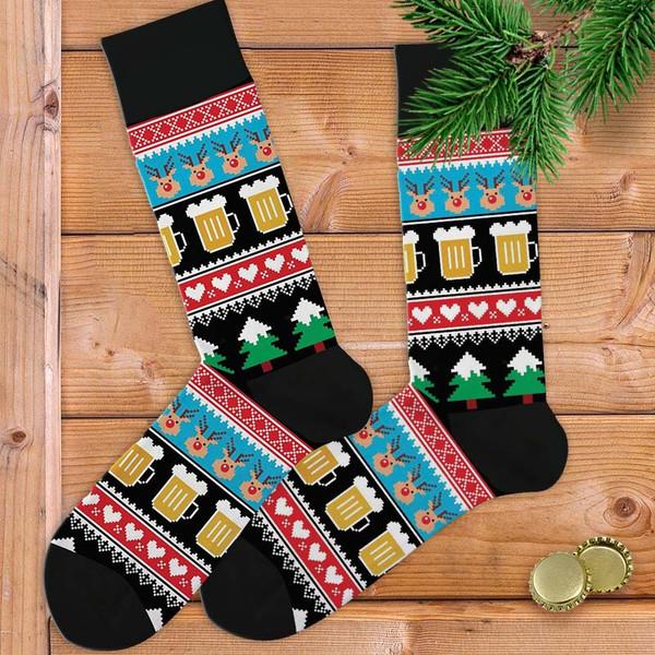 Christmas Beer Men's Socks
