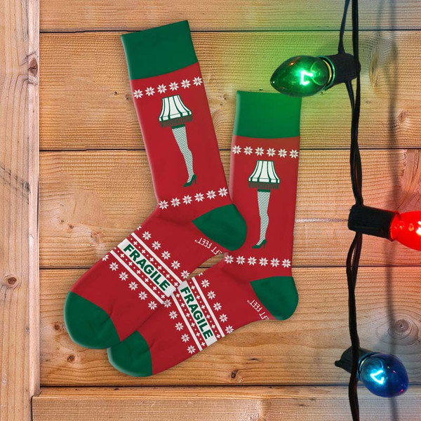 A Christmas Story Leg Lamp Women's Holiday Socks