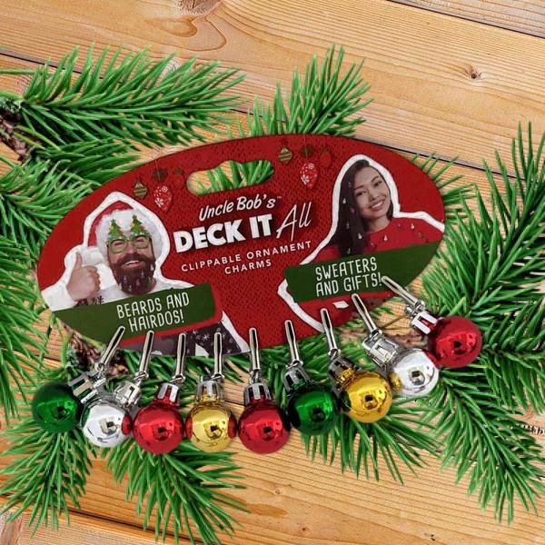 Clip-on Mini Christmas Bulb Ornament Charms