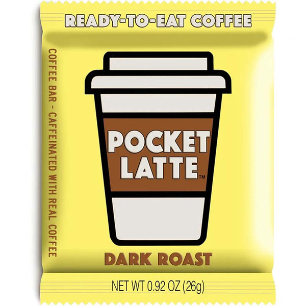 Pocket Latte - Caffeinated Dark Roast Coffee Chocolate
