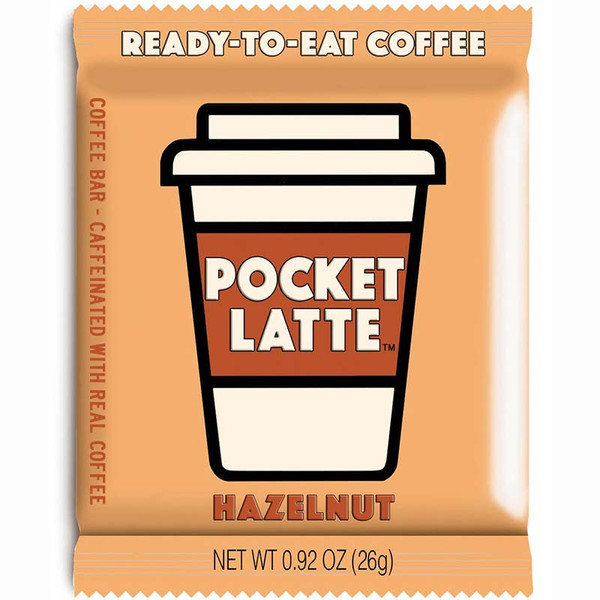Pocket Latte - Caffeinated Hazelnut Coffee Chocolate Bar