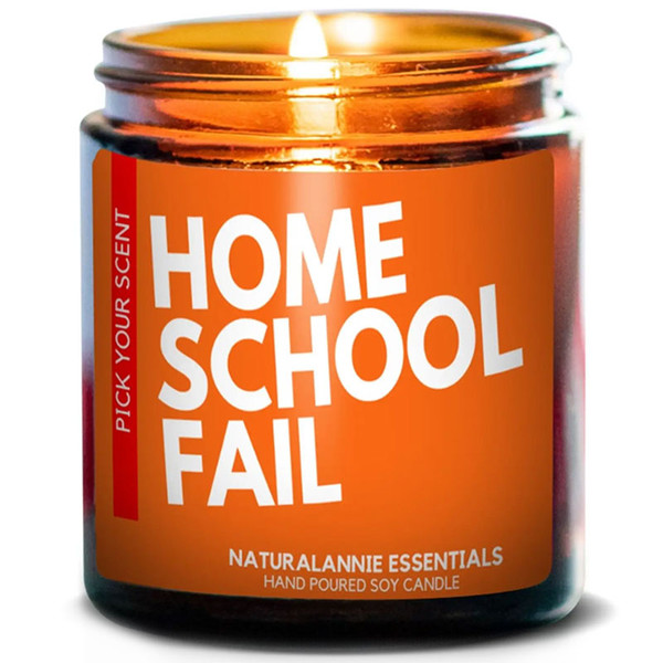 Home School Fail Candle