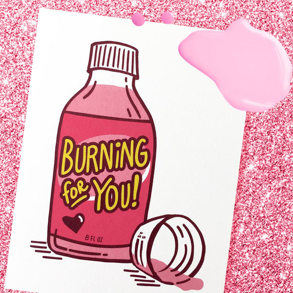 Burning For You Funny Valentine's Day Card