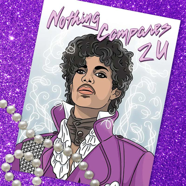 Prince Nothing Compares 2 U Valentine's Day Card