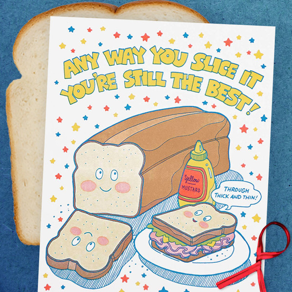 Any Way You Slice It Bread Friendship Card