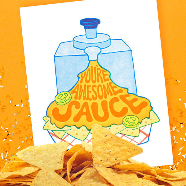 You're Awesome Sauce Friendship Card