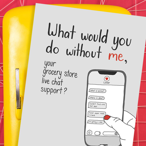 Grocery Store Support Funny Greeting Card