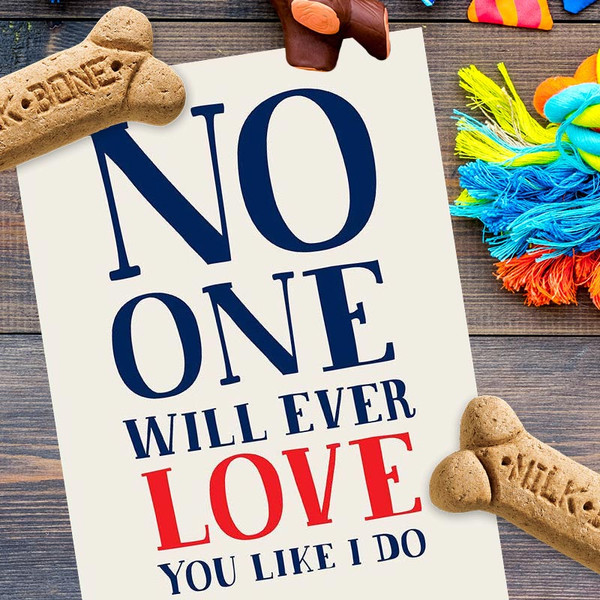 No One Will Love You Like I Do, Except The Dog Birthday Card