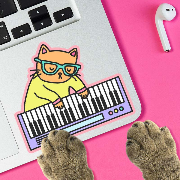Keyboard Cat Funny Internet Meme Sticker