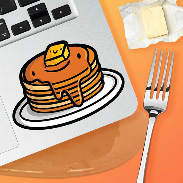 Stack Of Buttered Pancakes Sticker