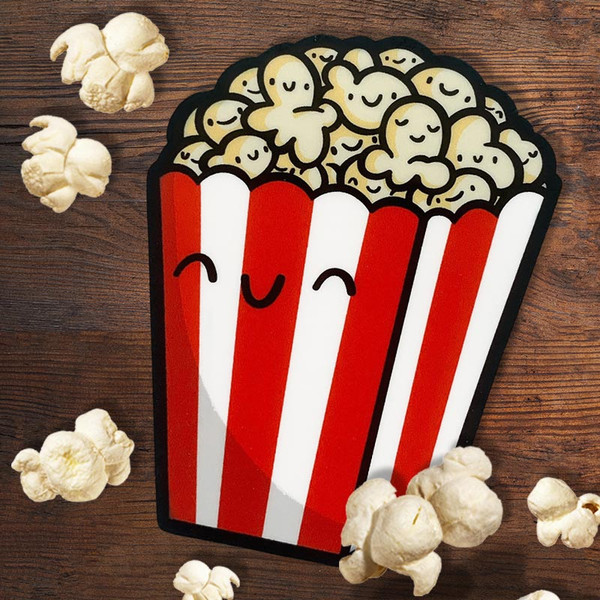 Kawaii Movie Theater Popcorn Sticker