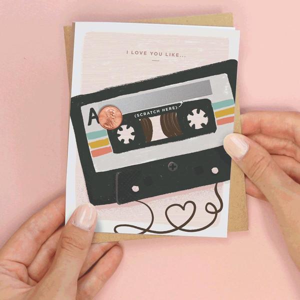 80's Mix Tape Valentine's Day Card
