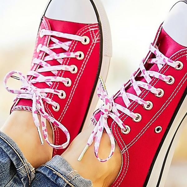 Retro Hearts Shoelaces