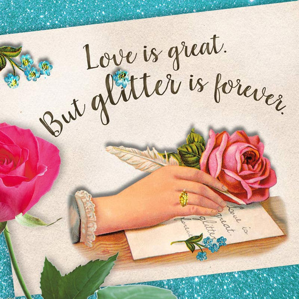 Glitter is Forever Funny Greeting Card