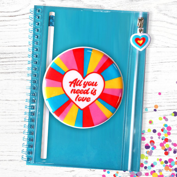 Snifty  All You Need Is Love Journal + Pencil Pouch