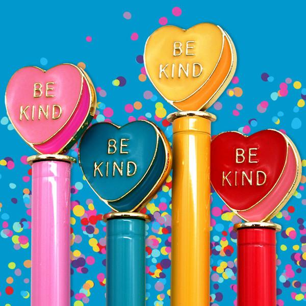 Valentine's Day: Be Kind Heart Enamel Charm Pen