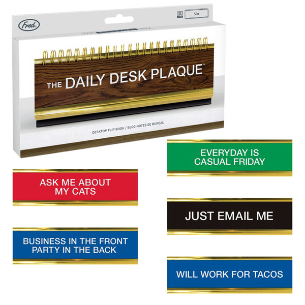 The Daily Desk Plaque Flip Book