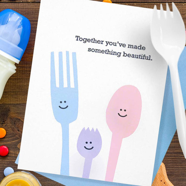 New Baby Spork Greeting Card