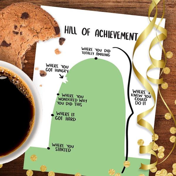 Hill of Achievement Funny Congratulations Card