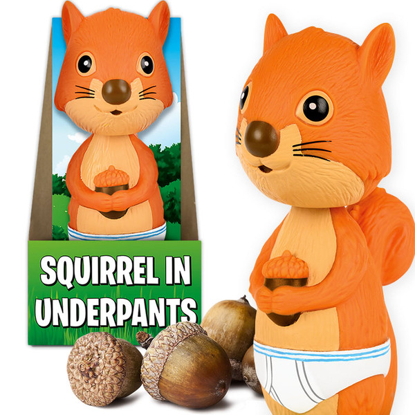 Squirrel in Underpants Nodder