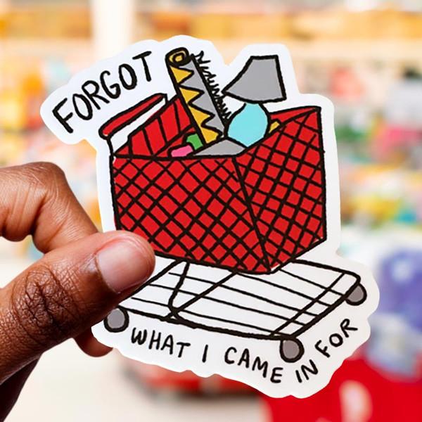 Target Addict Red Shopping Cart Sticker Decal