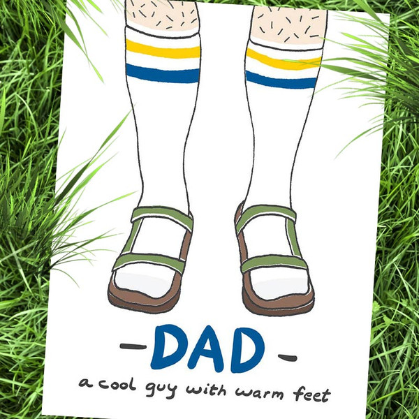 Funny Father's Day Card - Socks + Sandals