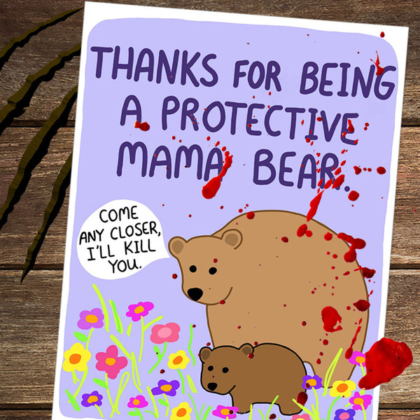 Funny Mama Bear Mother's Day Card