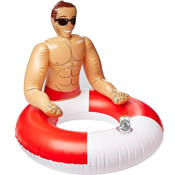 Inflatable Hunk Pool Ring as seen on POPSUGAR