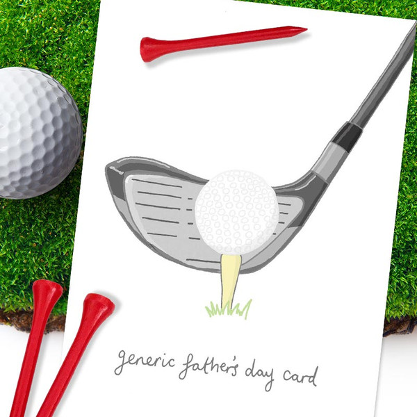 Funny Generic Golf Father's Day Card