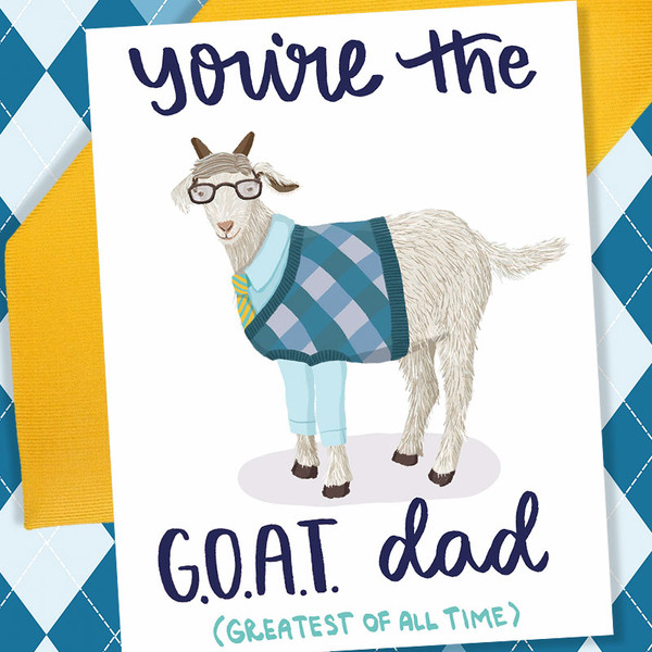Funny Father's Day Card - You're The G.O.A.T. Father's Day Card