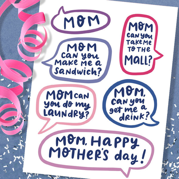Funny Mother's Day Card - MOM! Can You? Mother's Day Card