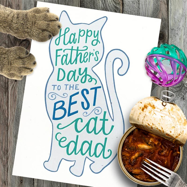 Best Cat Dad Funny Father's Day Card