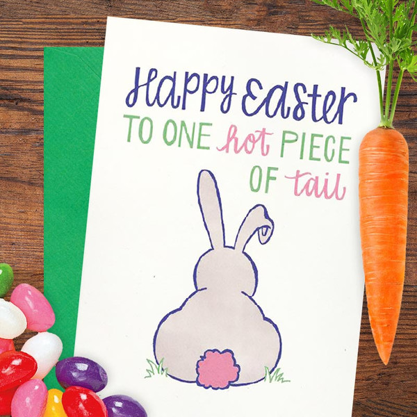 Hot Piece of Tail Happy Easter Card