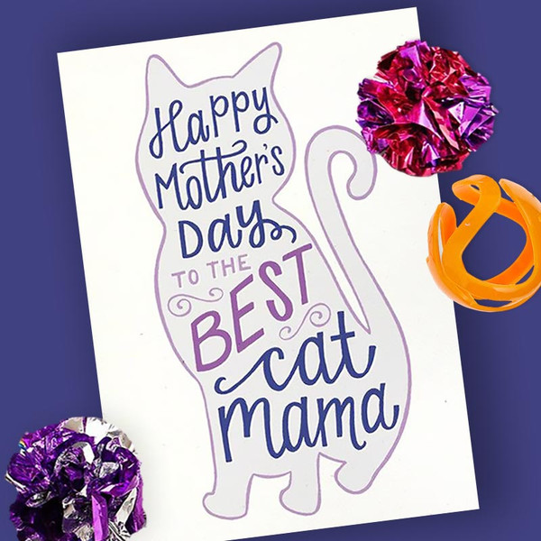 Best Cat Mama Mother's Day Card
